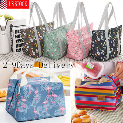 Lunch Bag Insulated Women Tote Thermal Box Cooler Travel Picnic Carry Girls Bag