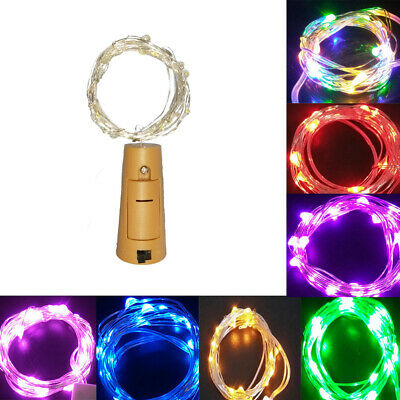 20 LED Solar Powered Garden Party Fairy String Crystal Ball Lights Outdoor
