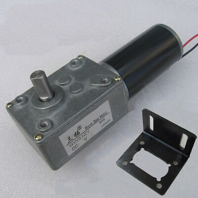 DC12V/24V Adjustable Speed Motor Worm Gear Reducer Motor GW31ZY Motor W/ Bracket