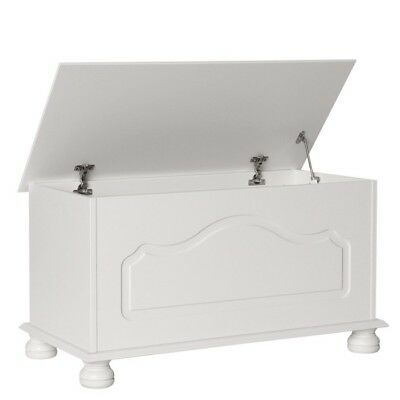 Copenhagen White Bedroom Furniture Ottoman / Blanket Box / Toy Storage Chest