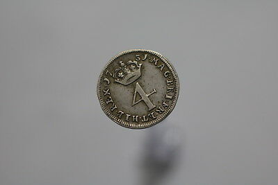 Uk Gb 4 Pence 1731 Silver Nice Details Scarce A77 #8012