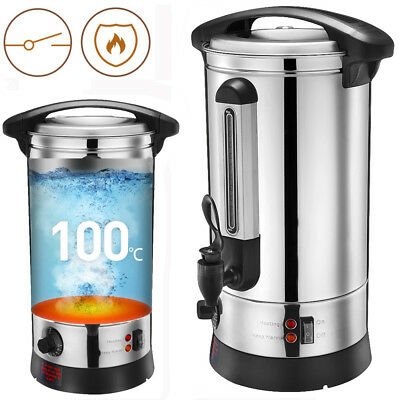 30L Tea Urn Electric Catering Instant Hot Water Boiler Coffee Stainless Steel UK