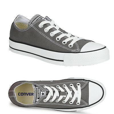 Ladies Mens Womens Unisex Grey Converse All Stars Ox Lo Chuck Taylors All Size