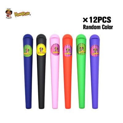 HONEYPUFF 12 X Plastic King Size Doob Tube Vial Waterproof Airtight Smell Proof