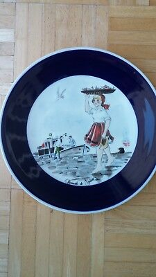 Galicia, Spain Collectible Hand Painted 10 Inch Diameter Plate-Great Condition