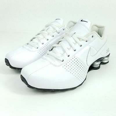 pretty nice afef6 e1d9b Mens Nike Shox Deliver Premium Sneakers New, All White Silver 317547-109  sku AA