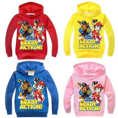 Paw Patrol Kinder hoodie Jacke Jungen Strick Pullover Marshall Rocky Chas NEU