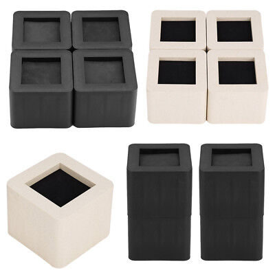 Adjule Furniture Risers Sofa Bed Table Chair Riser Legs Lift Set Of 4