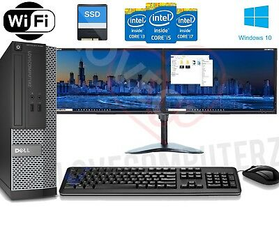 FULL DELL i5, i7 DESKTOP TOWER PC&TFT COMPUTER , WINDOWS 10 & 16GB 8GB  3TB