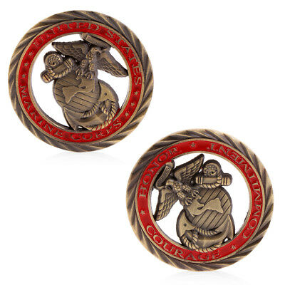 American United States Marines Commemorative Coin Collection Copper Zinc Alloy