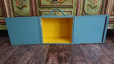 Vintage ANTIQUE display box cupboard retro dolls house bird box taxidermy old