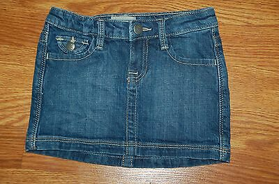 Girls Size 5 Gap Kids Denim Blue Jean Skirt Adjustable Waist EUC!!