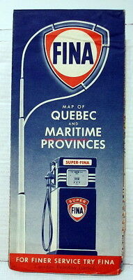 FINA~Highway Map~Canada~Quebec & Maritime Provinces~1952~