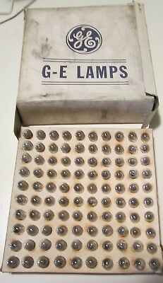 (100) VTG NOS 1950's General Electric Miniature  Light Bulbs GE14 / GE-14