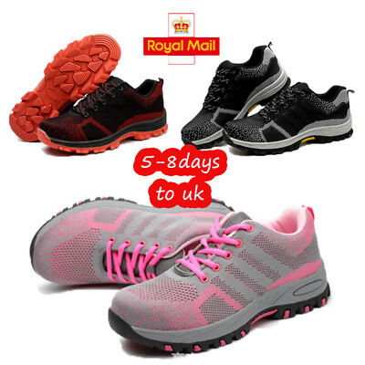 Womens Ladies Ultra Lightweight Steel Toe Cap Work Safety Shoes Trainers Boots