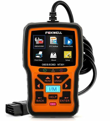 FOXWELL NT301 Enhanced Car Obd2 Code Scanner Universal Check Engine Light NEW