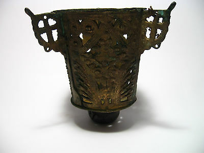 Antique Magnificent Bronze Orthodox Censer Medieval or post Medieval #5l