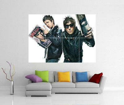 Oasis Noel & Liam Gallagher Giant Wall Art Bb3 Print Poster