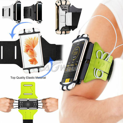 AU Universal Mobile Phone 180° Rotating Case Sports GYM Running Arm Band Holder
