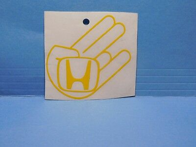 Shocker Honda Yellow Vinyl Window Car Tattoo Decal Sticker 3""