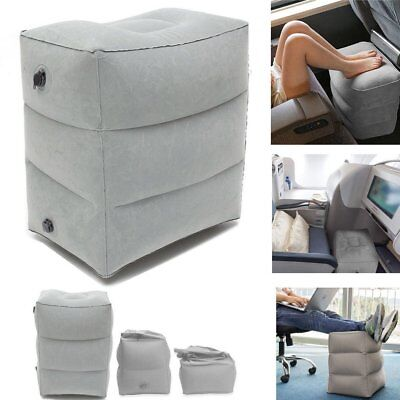 Inflatable Travel Footrest Leg Foot Rest Travel Pillow Portable Air Pad Cushion