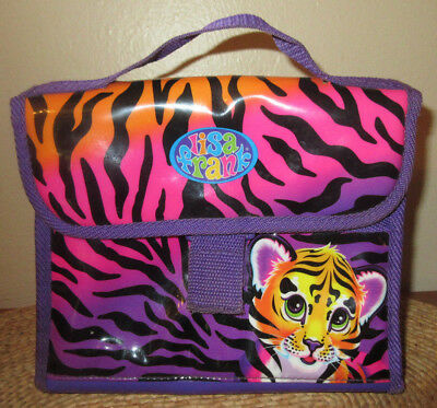 Vintage Lisa Frank Insulated Vinyl Lunch Bag Box Tote Purse Hunter Tiger