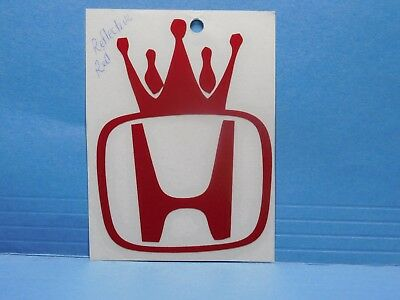 Honda King Reflective Red Vinyl Window Car Tattoo Decal Sticker 4""