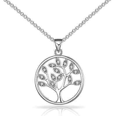 Silver Tree of Life Necklace with Crystals from Swarovski®