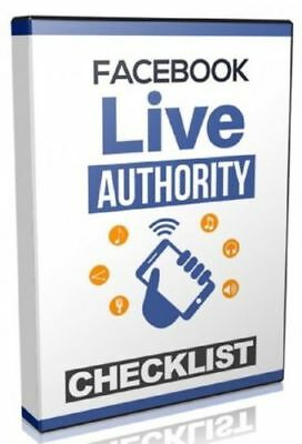 Facebook Live Authority Step-By-Step with Video Tutorials internet marketing!