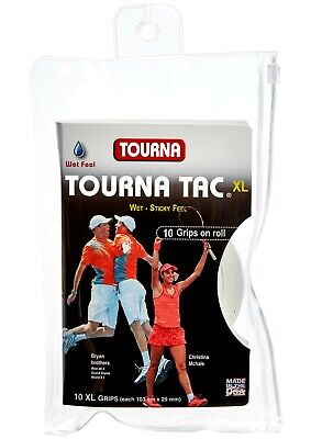 Tourna Tac XL 10 Pack Tennis Overgrip White - Free P&P