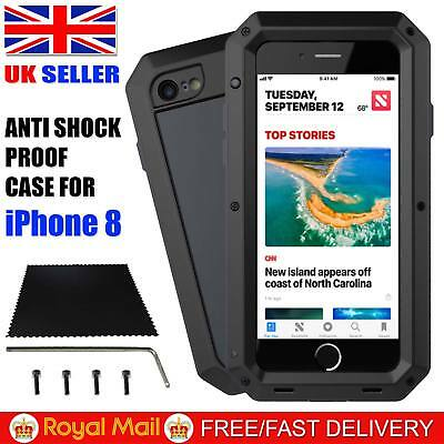 Armor Shockproof Tough Hybrid Metal WaterProof Heavy Duty Case For iPhone 8