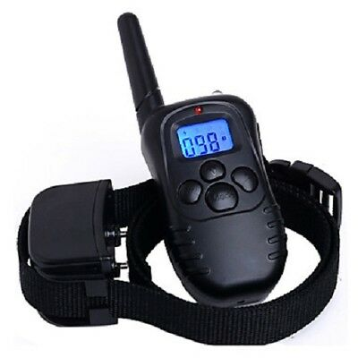 Electric Pet Training Collar LCD Dog Shock Anti Bark Waterproof Remote Control