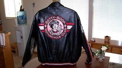 Betty Boop Leather Motorcycle Jacket - 2XL