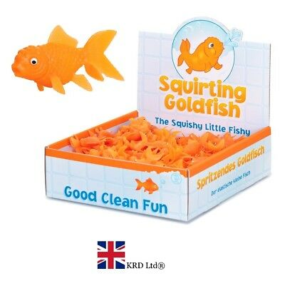 SQUIRTING MINI GOLDFISH BATH TOY Kids Birthday Party Bag Filler Squirter Gift UK