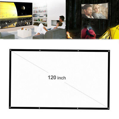 """120"""" Inch 16:9 Electric Motorized HD Projector Projection Screen Cinema Theater"""