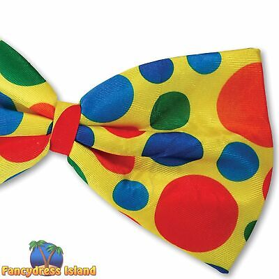 CIRCUS CLOWN JUMBO SPOTTY BOW TIE Mens or Womens Fancy Dress Costume Accessory