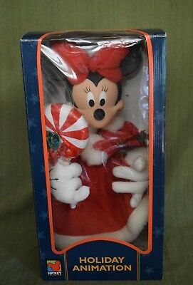 MIckey Unlimited Santa's Best Holiday Animation 1996 Minnie Mouse Candy Cane 18""