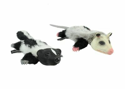 Realistic Animal Dog Toy Stuffing Free with Squeaker Possum or Skunk Dogs Toys