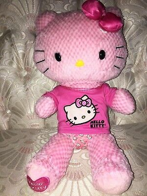 Build a Bear Plush Sanrio Pink Checkered Hello Kitty Stuffed Animal