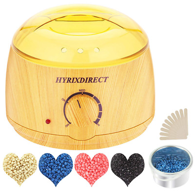 Wax Warmer Hair Removal Waxing Kit Electric Heater & 4 Flavors Hard Beans