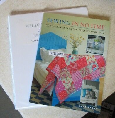 Sewing in No Time and Wildflowers Book Lot