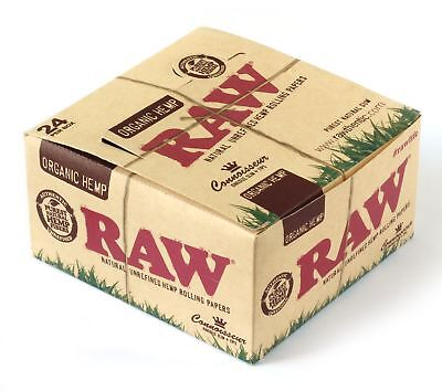 Raw Organic Connoisseur King Size Slim Rolling Paper With Tips Full Box Of 24...