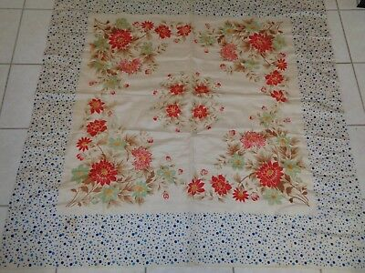 Vintage Tablecloth Floral with Dots