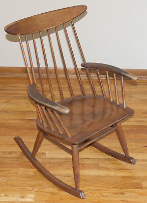 Astounding Russel Wright Rocking Chair Spindle Back Made By Conant Lamtechconsult Wood Chair Design Ideas Lamtechconsultcom