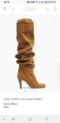 302fc0e4903 CHLOE LENA SUEDE Boots Over The Knee