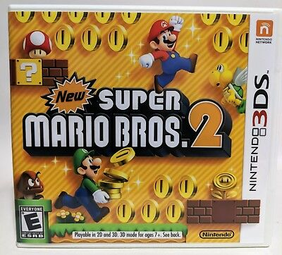 Original Game Cases & Boxes Replacement Case No Game New Super Mario Bros 2 For 3ds