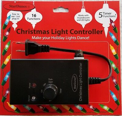 Christmas Light Controller - 16 Flash/Fade Functions, 5 Timer Functions