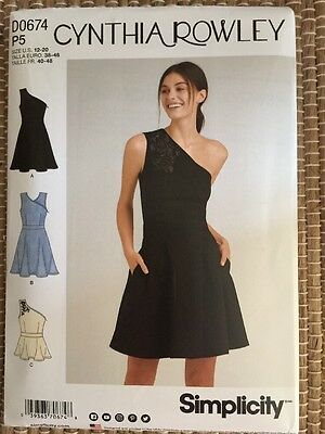 Simplicity 8380 Sewing Pattern Cynthia Rowley Ladies Dress Top Sizes 12-20 New