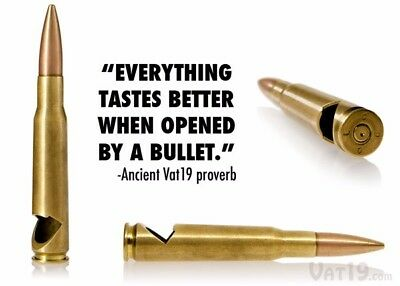 Bullet Bottle Opener Party 50 Cal - Gold - Mixology - 50 Cal - Beer