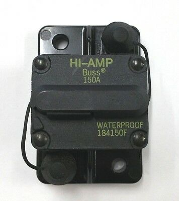 NEW Buss Bussmann 184150F, 150 Amp 30V DC Thermal Circuit Breaker